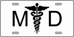 LP-2133 MD Medical Doctor Logo Emblem License Plates