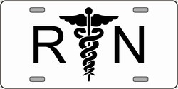 LP-2134 RN Registered Nurse Logo Emblem License Plates