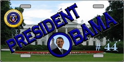 LP-2185 President Barack Obama 44 License Plates