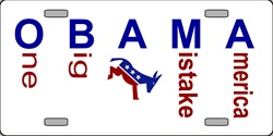 LP-2203 President OBAMA - One Big Ass Mistake America License Plates