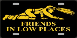 LP-2213 Miners Mining - Friends in Low Places License Plate
