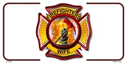 LP-2359 Firefighters Wife License Plates Tags
