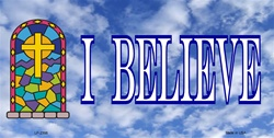 LP-2398 I BELIEVE Christian License Plates Tags