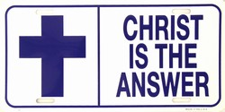 LP-250 Christ is the Answer License Plate - 30