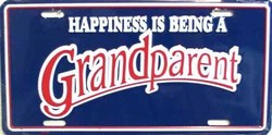 LP-268 Happiness is Being a Grandparent License Plate - 18754