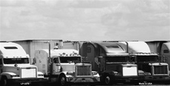 LP-3275 Truck Stop in Black and White License Plate Tags - Full Color Photography