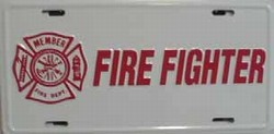 LP-334 Firefighter License Plate Tags