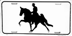 LP-352 Horse with Rider License Plate - 40