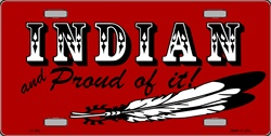 LP-360 Indian and Proud License Plate - 492