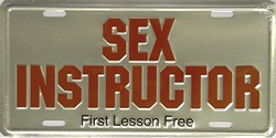 LP-366 Sex Instructor License Plate - 5046