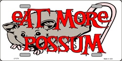 LP-374 Eat more Possum License Plate - 56