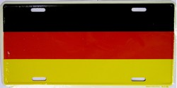 LP-465 Germany Flag License Plate - 2373