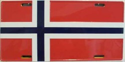 LP-501 Norway Flag License Plate - 31669