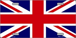 LP-507 Britain Union Jack Flag License Plate - 477