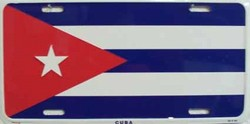 LP-509 Cuba Flag License Plate - 5158