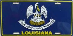 LP-518 Louisiana License Plate - 853