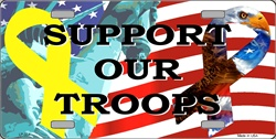 LP-554-2TLP-554 Support Our Troops Ribbons License Plate Tags