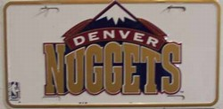 LP-659 Denver Nuggets License Plate - 704