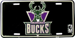 LP-662 Milwaukee Bucks License Plate - 711