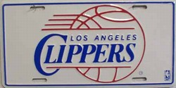 LP-667 LA Clippers License Plate - 719