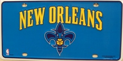 LP-672 New Orleans Hornets License Plate - 78002M