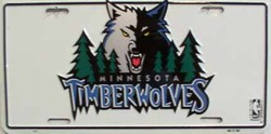 LP-678 Minnesota Timberwolves License Plate - 809