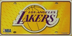 LP-679 LA Lakers License Plate - 82001M