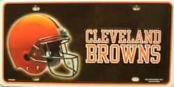 LP-743 Cleveland Browns NFL Football License Plate - 2801M lg