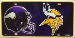 LP-749 Minnesota Vikings NFL Football License Plate - 3101M lg
