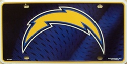 LP-755 San Diego Chargers NFL Football License Plate - 3401M lg
