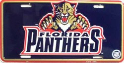 LP-767 Florida Panthers License Plate - 259