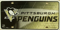 LP-777 Pittsburgh Penquins License Plate - 7202M