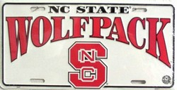 LP-874 North Carolina State Wolfpack License Plate - 2337
