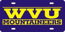 Mirror License Plates West Virginia Mountaineers