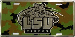 lp-1011 LSU Louisiana State Camoflage Camo Chrome License Plates License Plate - 50121
