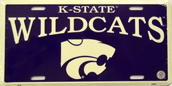lp-805 Kansas State K-State Wildcats College License Plate - 2604