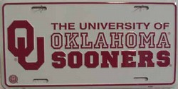 lp-814 University of Oklahoma Sooners - College License Plate - 425