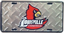 lp-821 Louisville Cardinals Silver Diamond Cut Toolbox Background License Plate - 2682